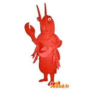 Mascot gigante langosta roja - Langosta de vestuario