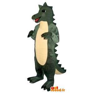 Dinosaurus Mascot / keltainen ja vihreä krokotiili - Dinosaur Costume - MASFR003178 - maskotti krokotiilejä
