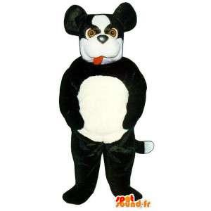Musta ja valkoinen koira maskotti - Koira Costume Pehmo - MASFR003185 - koira Maskotteja