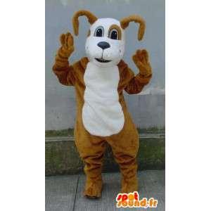 Beige ja valkoinen koira maskotti Teddy - Koira Costume - MASFR003188 - koira Maskotteja
