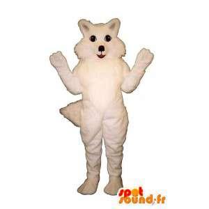 Weiß Fuchs Maskottchen alle behaart - Kostüm Fuchs - MASFR003189 - Maskottchen-Fox