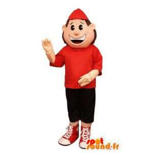 Big Boy maskotka ubrana czerwony i czarny  - MASFR003203 - Maskotki Boys and Girls