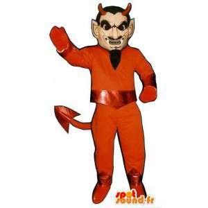赤い悪魔のマスコット-ハロウィンコスチューム-MASFR003205-行方不明の動物のマスコット