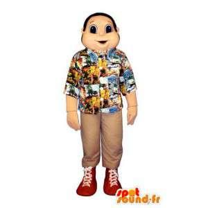 Mascotte de vacancier - Costume de bonhomme en chemise