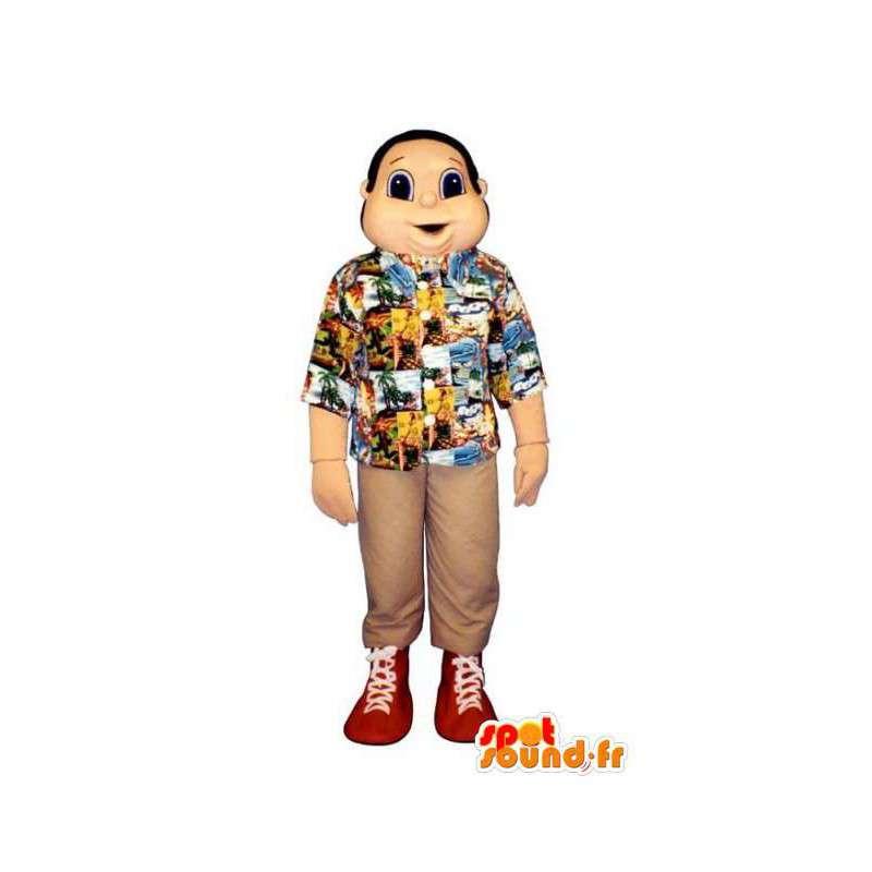 Holidaymaker maskot - Snowman kostume i en skjorte - Spotsound