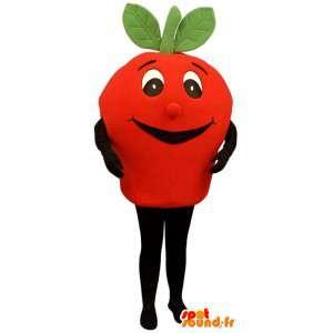 Maskot i form af en kæmpe orange gulerod - Gulerodskostume -