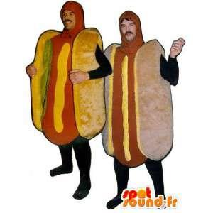 Kæmpe hotdog-maskotter - Pakke med 2 hotdogs - Spotsound maskot