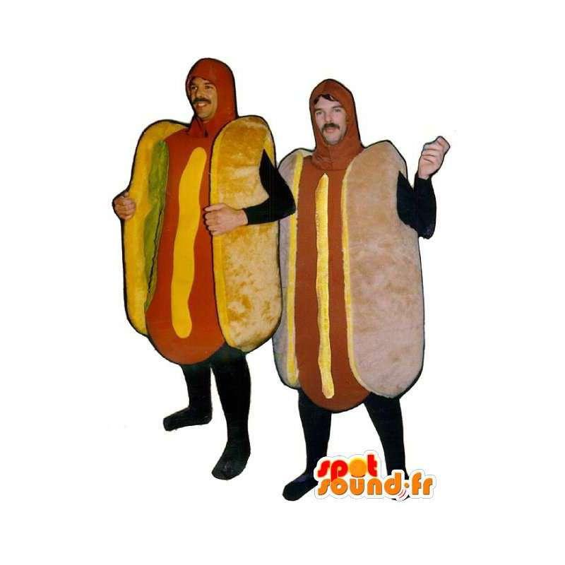 Mascots giant hotdog - Pack of 2 hotdogs - MASFR003221 - Fast food mascots