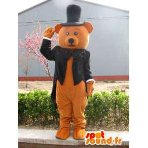 Karhu maskotti puku - Dressed häät - MASFR00248 - Bear Mascot