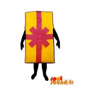 Maskottchen-förmigen gelben und rosa Geschenk - Geschenk-Kostüm - MASFR003224 - Maskottchen von Objekten