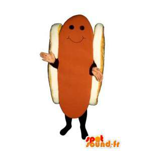 Jättiläinen hot dog maskotti - hot dog puku - MASFR003227 - Mascottes Fast-Food