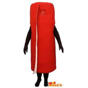 Mascot in the form of a giant red carpet - carpet costume