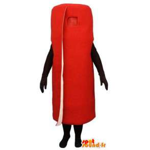 Mascot in the form of a giant red carpet - carpet costume - MASFR003231 - Mascots unclassified