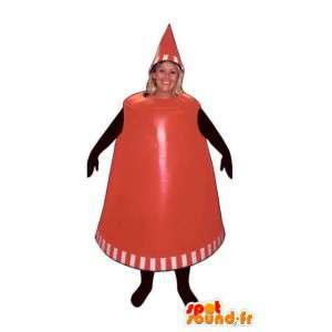 Tvarovaný maskot červený plastový kelímek