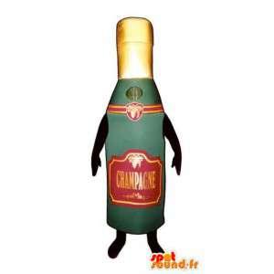 Fles mascotte champagne - champagne Costume - MASFR003240 - mascottes Flessen
