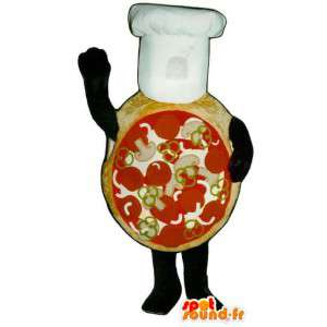 Mascot giant pizza - pizza costume with hat - MASFR003244 - Mascots Pizza