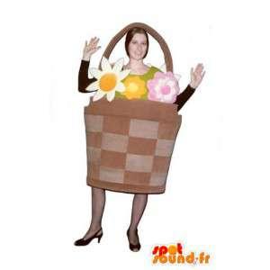 Mascot giant flower basket - Costume flower basket - MASFR003247 - Mascots of plants