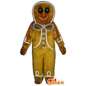 La mascota de la galleta del pan de especias gigantes - Traje de pan de jengibre - MASFR003248 - Mascota de verduras