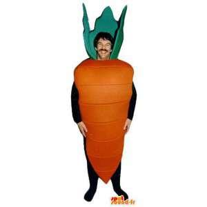 Laranja mascote em forma gigante cenoura - traje de cenoura