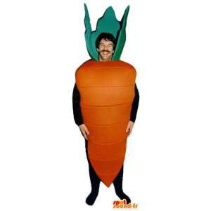 Vormige mascotte oranje reuzewortel - Wortel Costume