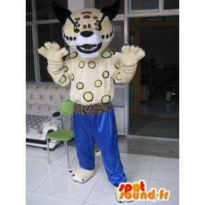 Kung Fu Tiger Mascot - Pantalones azules - Peluche Especial Karate - MASFR00247 - Mascotas de tigre