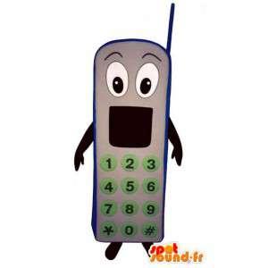 Κινητό τηλέφωνο Γκρι μασκότ - τηλεφωνική μεταμφίεση - MASFR003256 - μασκότ τηλέφωνα