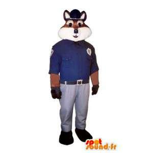 Fox Maskottchen Polizist - Kostüm Fuchs Polizei - MASFR003259 - Maskottchen-Fox