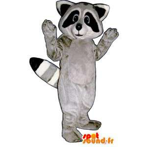 Mascot tricolor Raccoon - Raccoon Suit