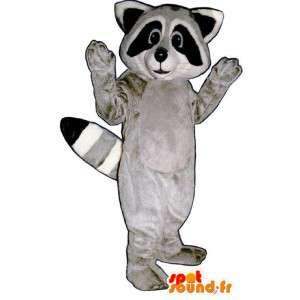 Mascotte de raton laveur tricolore - Costume de raton laveur