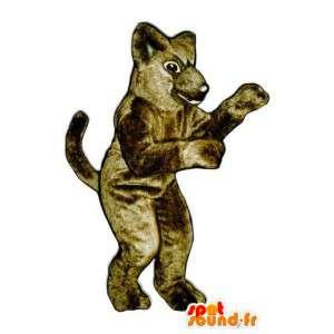 Brown dog mascot all hairy - Costume Dog - MASFR003270 - Dog mascots