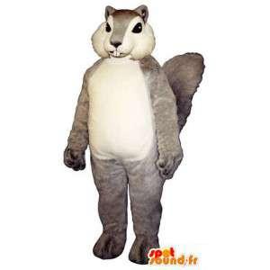 Harmaa ja valkoinen orava maskotti - orava Suit - MASFR003271 - maskotteja orava