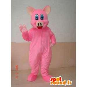 ピンクのブタのマスコット-仮装パーティーの楽しいコスチューム-MASFR00251-ブタのマスコット