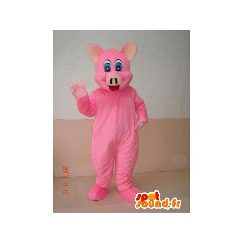 Pink pig mascot - Costume for fancy dress party fun - MASFR00251 - Mascots pig