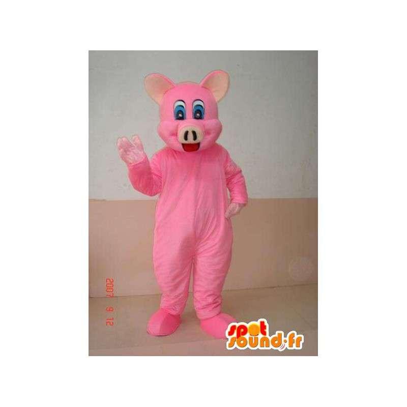 Pink pig maskot - zábava kostým na maškarní večírek - MASFR00251 - prase Maskoti