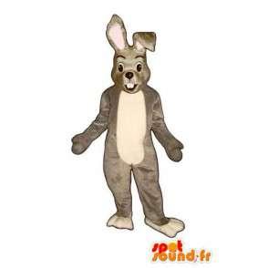 Mascotte de lapin gris et blanc - Costume de lapin en peluche - MASFR003276 - Mascotte de lapins