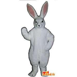 Blanco de la mascota y el conejo rosa con orejas grandes