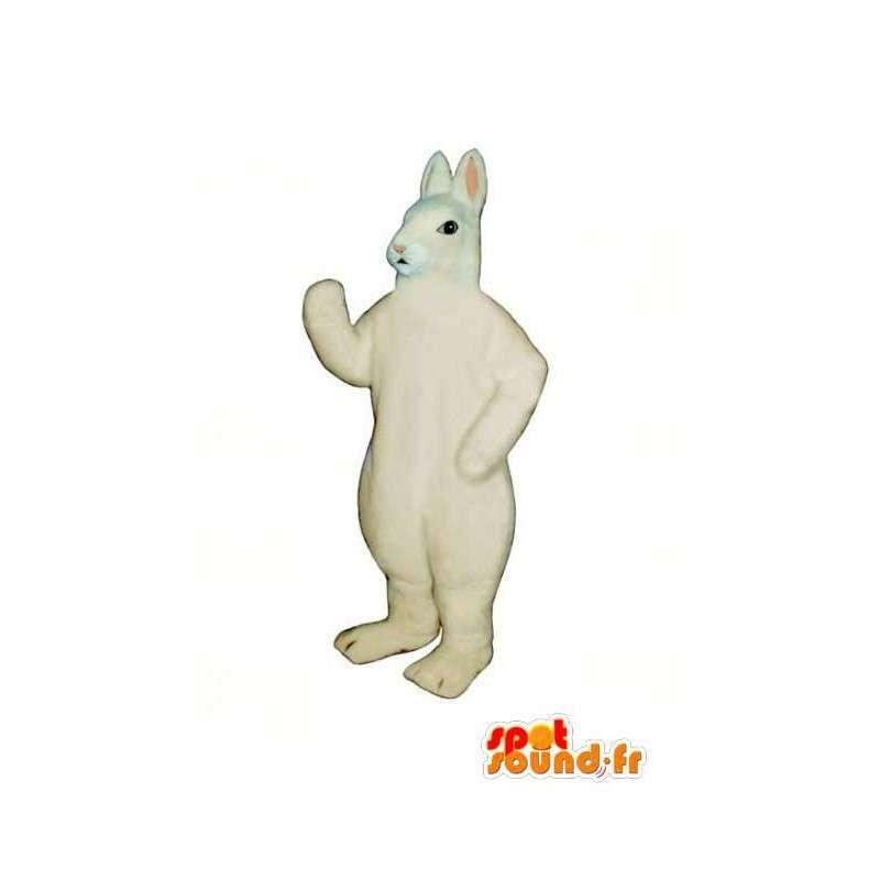 Gigantisk hvit kanin maskot - White Rabbit Costume - MASFR003282 - Mascot kaniner
