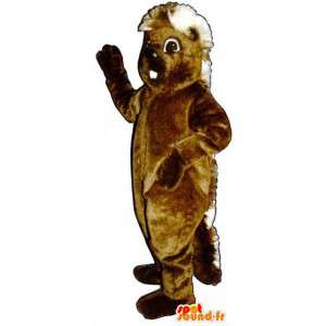 Brown hedgehog mascot giant - Hedgehog Costume - MASFR003284 - Mascots Hedgehog