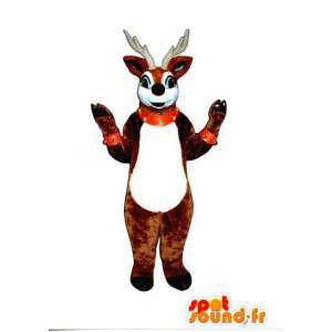 サンタのトナカイのマスコット-茶色のトナカイの衣装-MASFR003287-クリスマスのマスコット