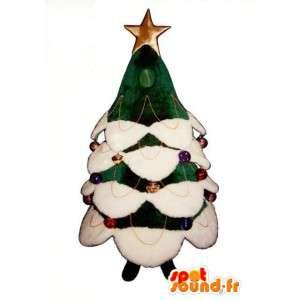 巨大な装飾が施されたクリスマスツリーのマスコット-クリスマスツリーのコスチューム-MASFR003293-クリスマスマスコット