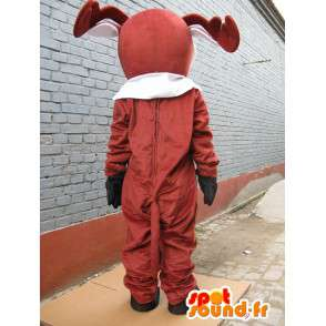 Mascot Deer tre - Petit Nicolas - rød nese maskot til jul - MASFR00256 - jule~~POS TRUNC