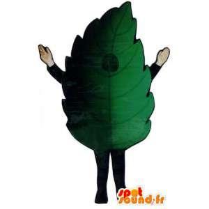 Giant green leaf mascot - Costume green leaf - MASFR003295 - Mascots of plants