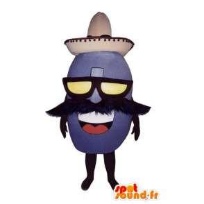 Mexikansk bönformad maskot - Bean-kostym - Spotsound maskot