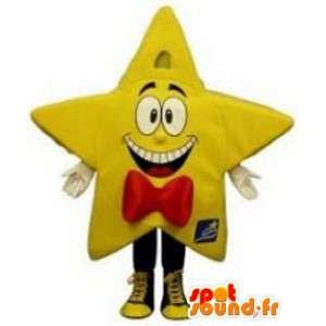 Giant yellow star mascot - Costume giant star