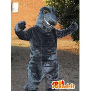 Graue Riesen Dinosaurier-Maskottchen Weg Godzilla - MASFR003299 - Maskottchen-Dinosaurier