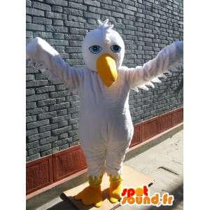 Pelican mascotte di base bianco - costume uccello per la festa