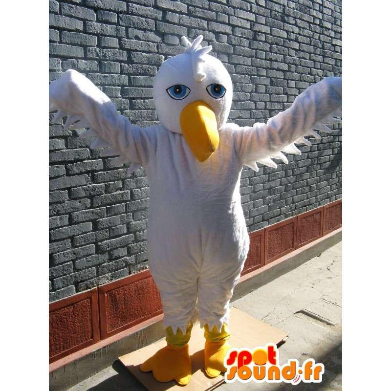 Pelican mascotte di base bianco - costume uccello per la festa - MASFR00252 - Mascotte degli uccelli