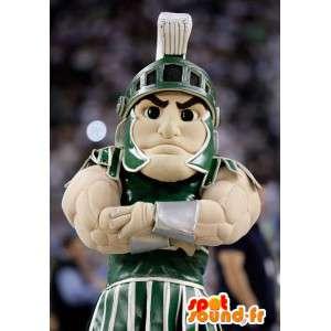 Mascot Muskel Gladiator mit seiner traditionellen Kleidung