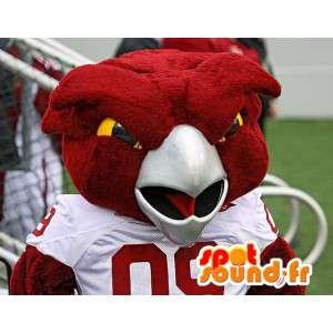 Mascot pássaro vermelho de tamanho gigante - Traje Pássaro