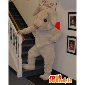 Kæmpe beige kanin maskot - Kanin kostume - Spotsound maskot